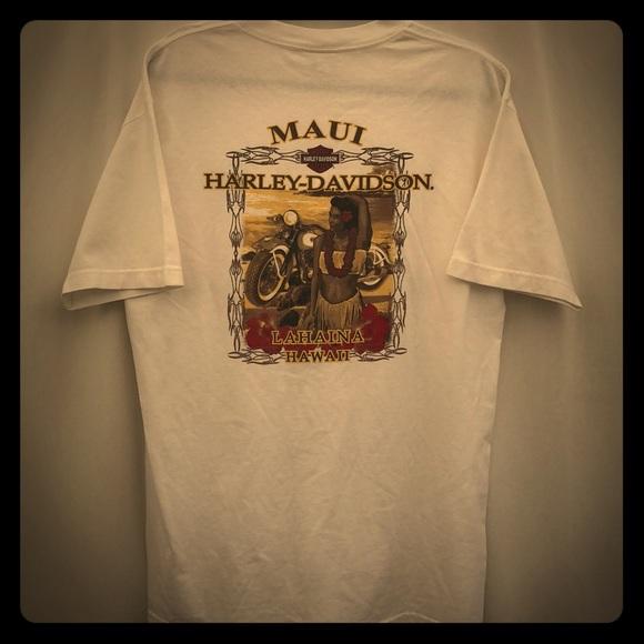 bcbe2d786c52 Harley-Davidson Shirts | Harley Davidson Maui Hawaii Tshirt Mens L ...